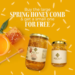 Adonis Valley Spring Honey - with Honey Comb