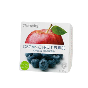 Clearspring Organic Fruit Puree - Apple & Blueberry