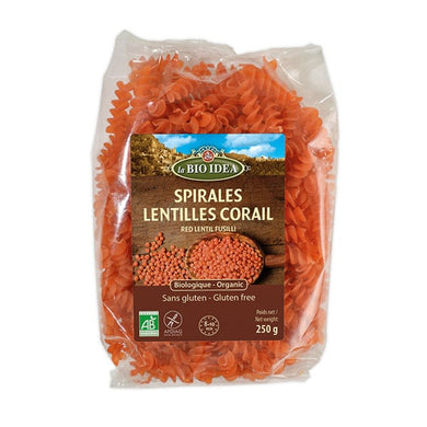 La Bio Idea Red Lentil Fusilli
