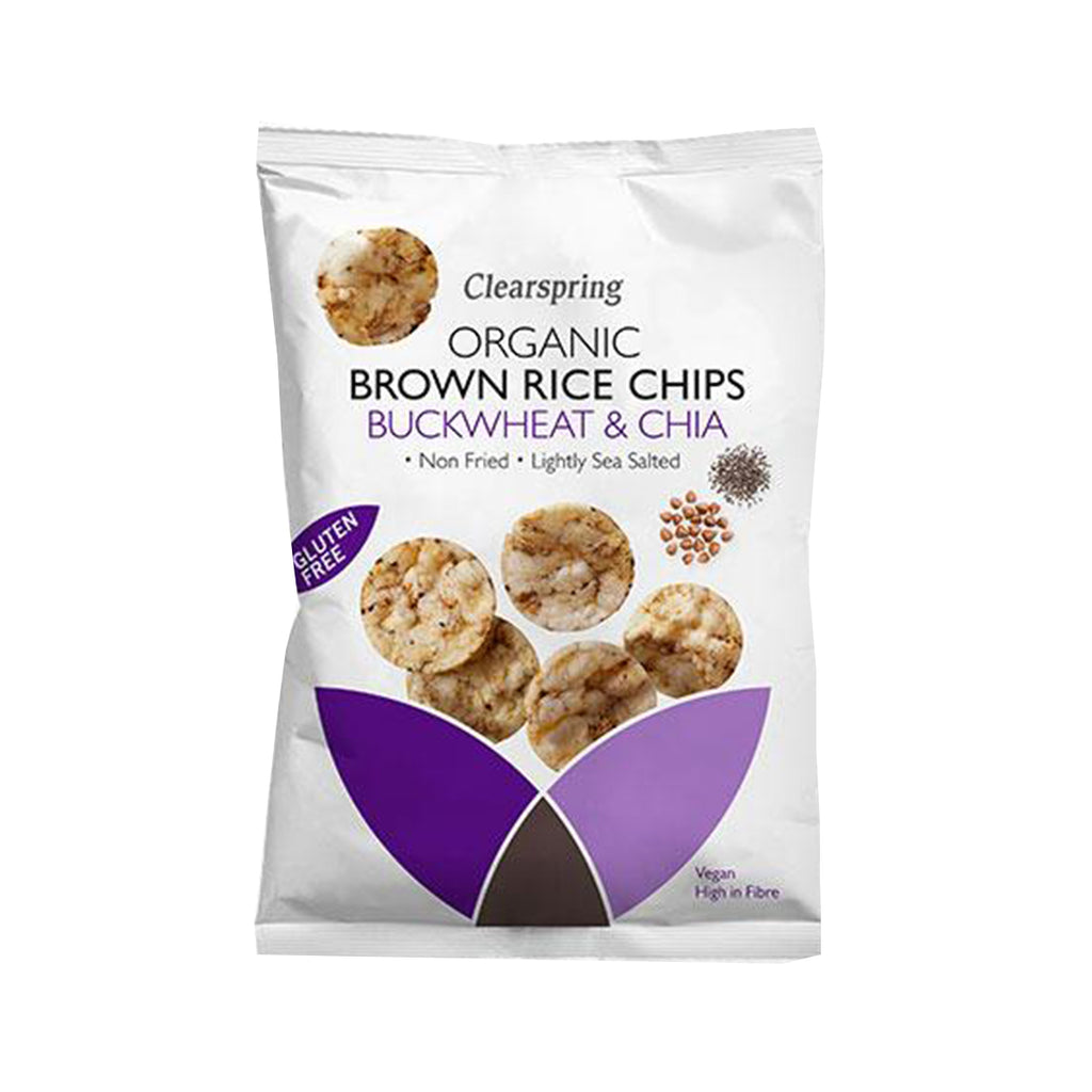 Clearspring Organic Brown Rice Chips - Buckwheat & Chia (1498458193983)