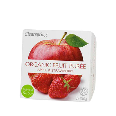 Clearspring Organic Fruit Puree - Apple & Strawberry