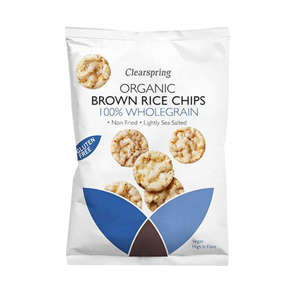 Clearspring Organic Brown Rice Chips - 100% Wholegrain (1498449117247)