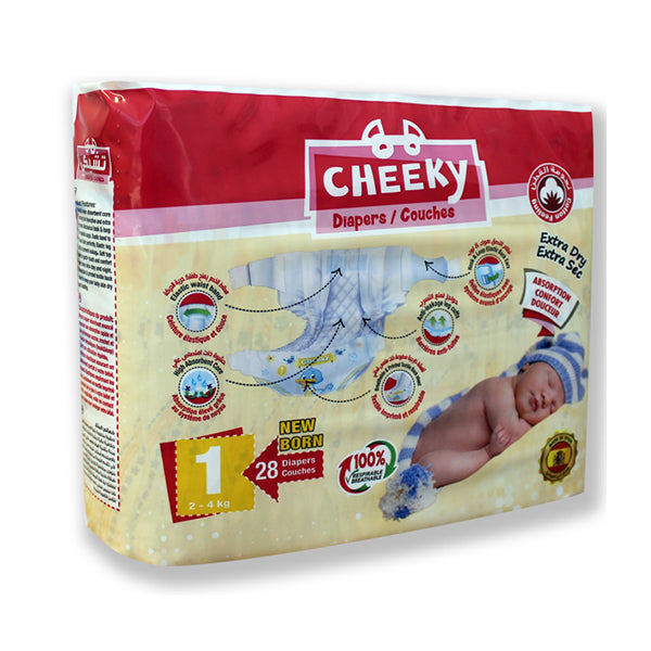Cheeky Extradry Diapers Standard Size 1