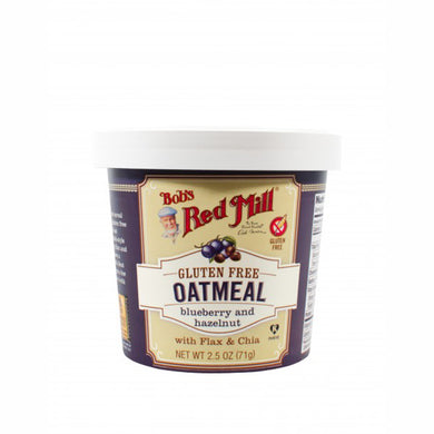 Bob's Red Mill Oatmeal Cup - Blueberry and Hazelnut - Gluten Free
