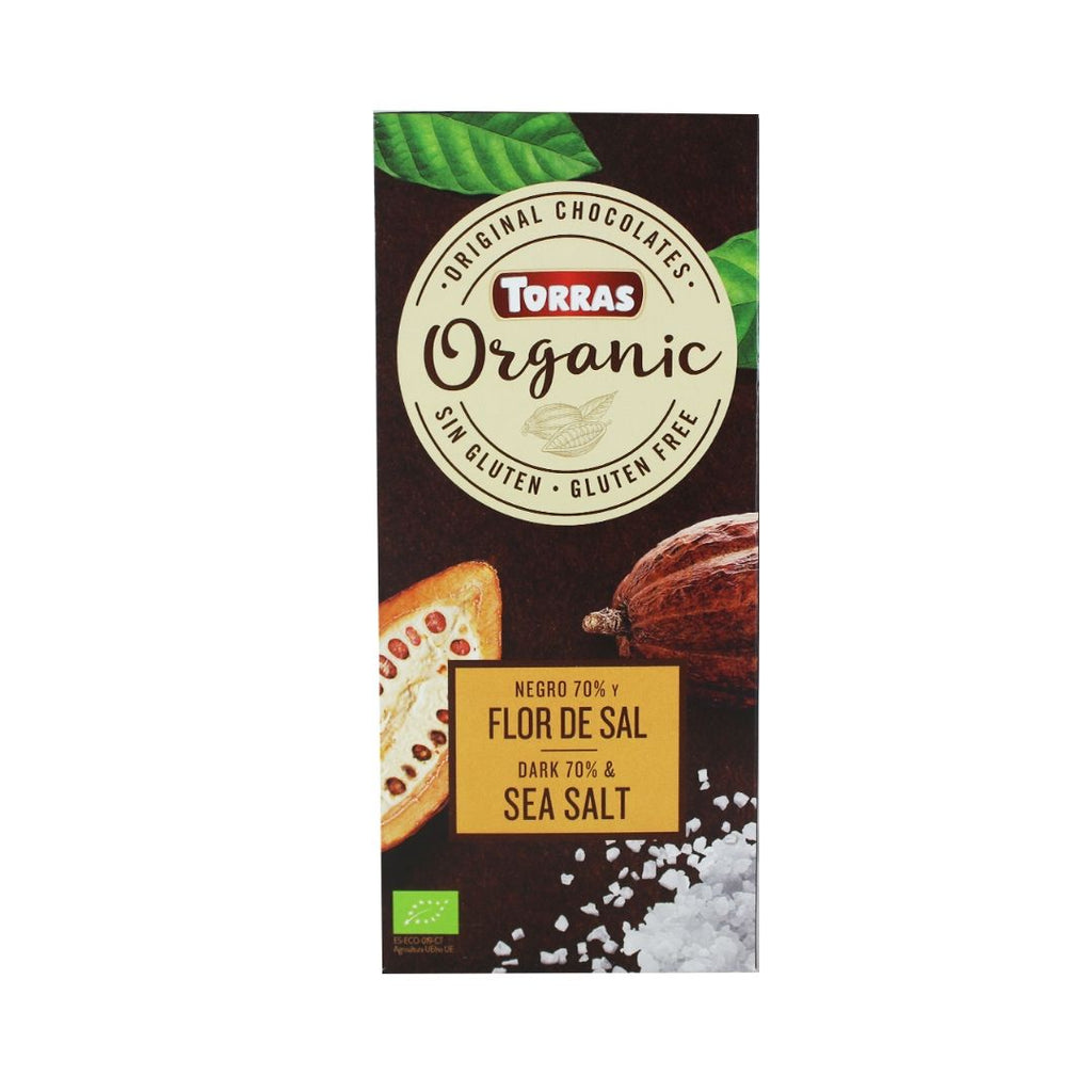Torras Organic 70% Dark Chocolate with Sea Salt (1897317728319)