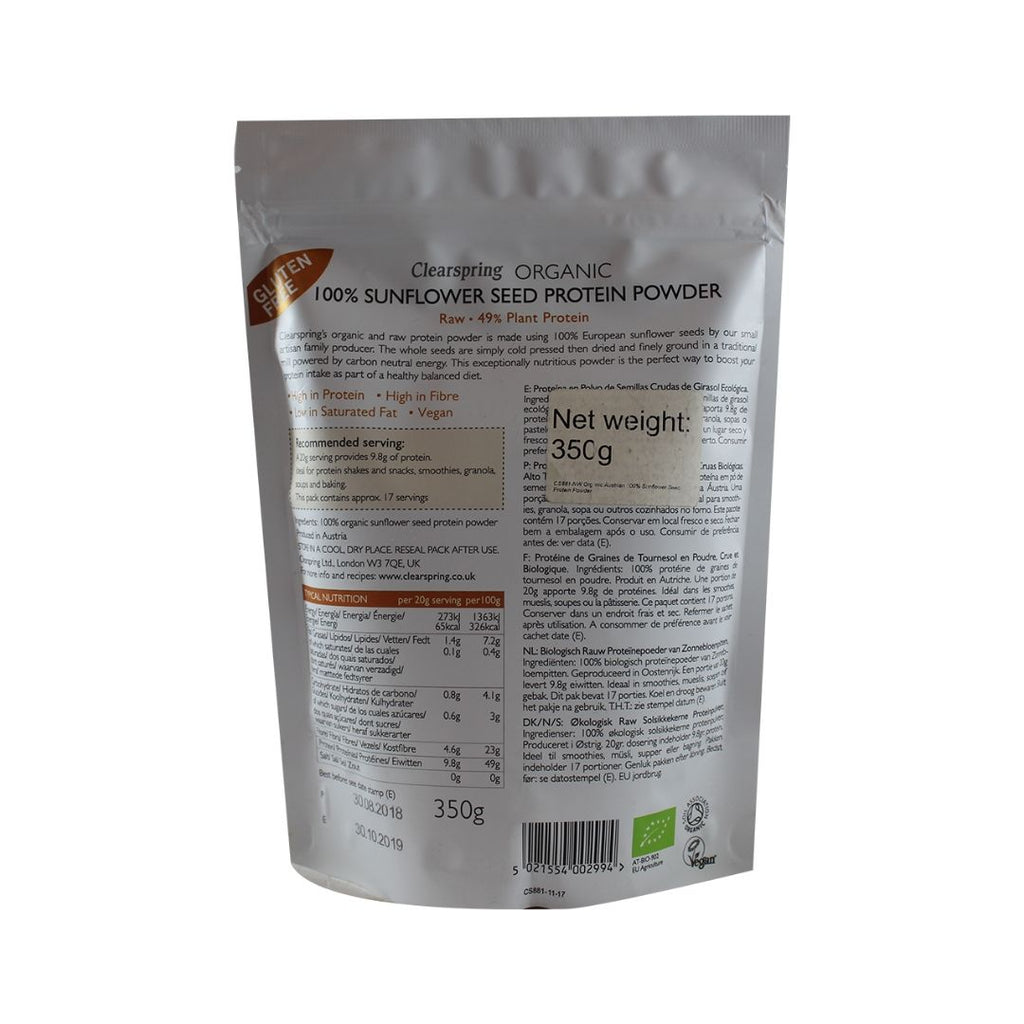 Clearspring Organic 100% Sunflower Seed Protein Powder