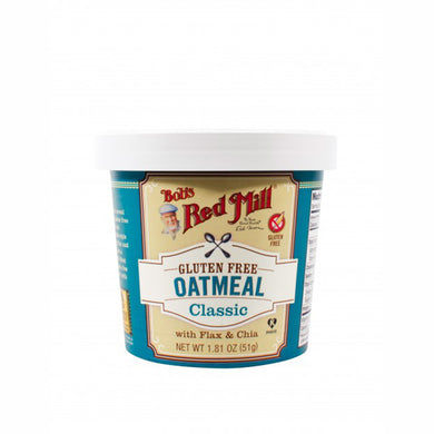 Bob's Red Mill Oatmeal Cup Classic - Gluten Free