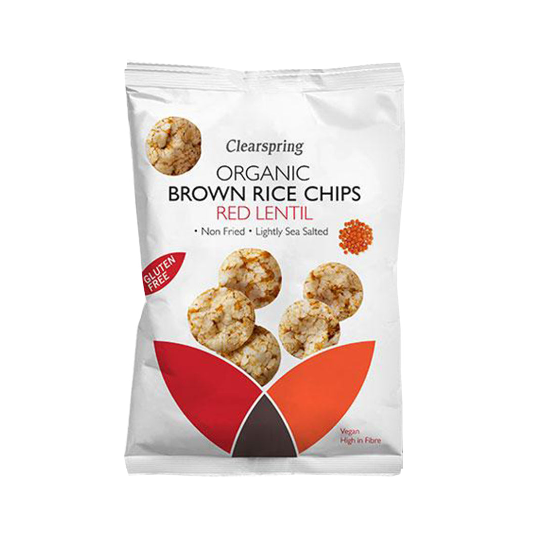 Clearspring Organic Brown Rice Chips - Red Lentil