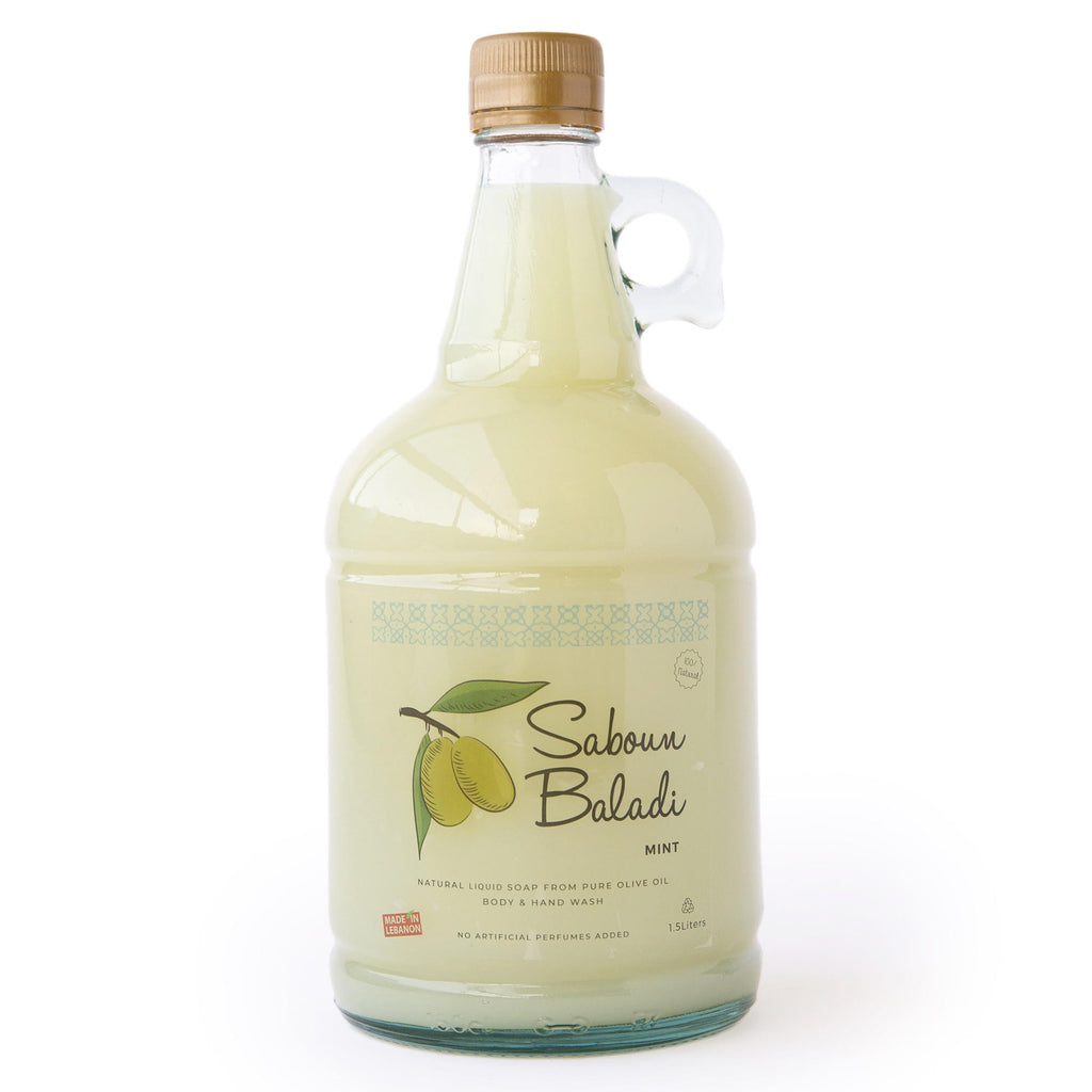 Saboun Baladi Liquid Soap - Mint (1557689696319)
