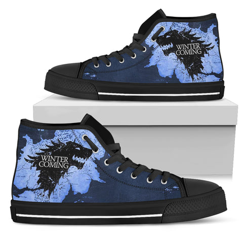 Winter Is Coming Stark Men's High Top Canvas Shoes