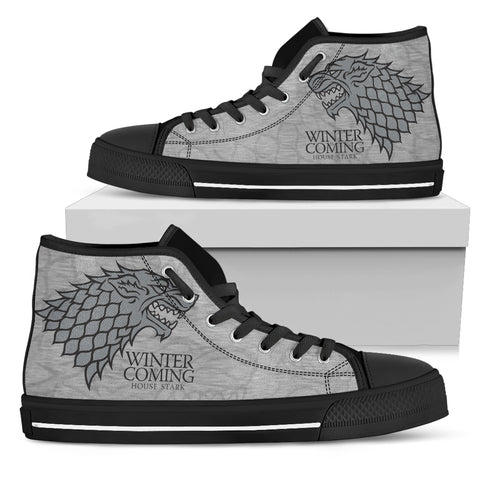Winter Is Coming Women's High Top Canvas Shoes