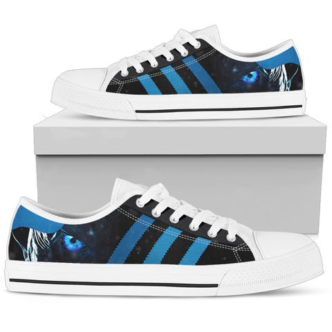 White Walkers Low Top Canvas Shoes For Men