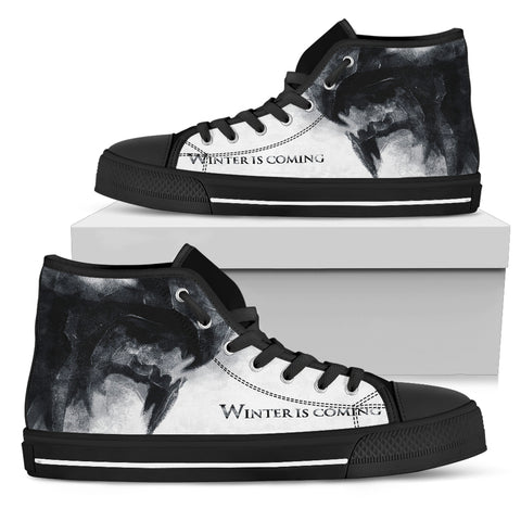 Winter Is Coming High Top Canvas Shoes