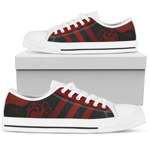 Fire And Blood Low Top Canvas Shoes For Women