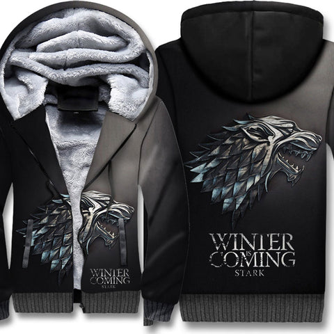 Winter Is Coming New Addition Winter Warm Fleece Thicken Jacket