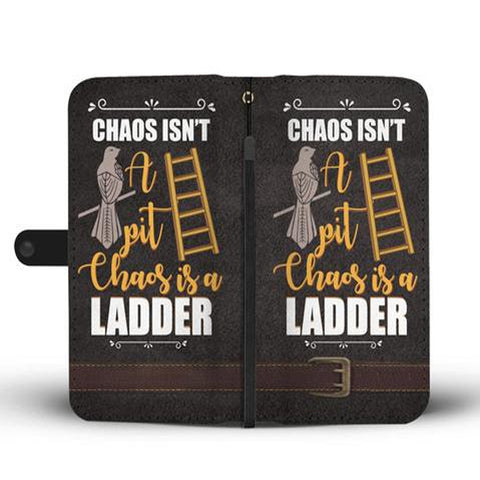 Hand Crafted Chaos Isn't Pit Chaos Is A Ledder Wallet Case