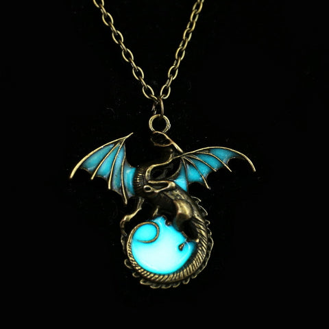 Royal Luminous Dragon Pendants & Necklaces For Girls And Woman