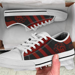 Fire And Blood Low Top Canvas Shoes For Men