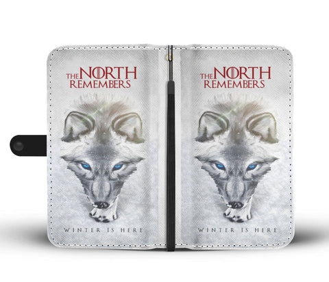 Hand Crafted The North Remembers Wallet Case