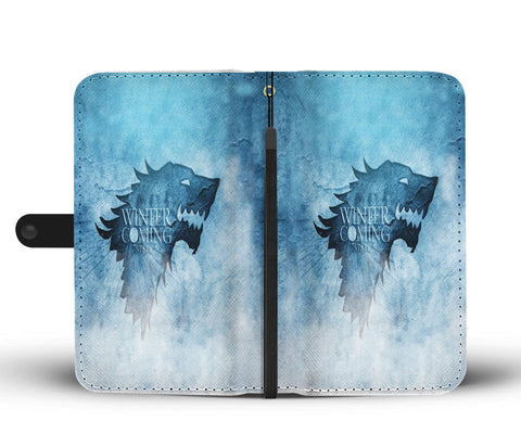 Hand Crafted Winter Is Coming  Wallet Case