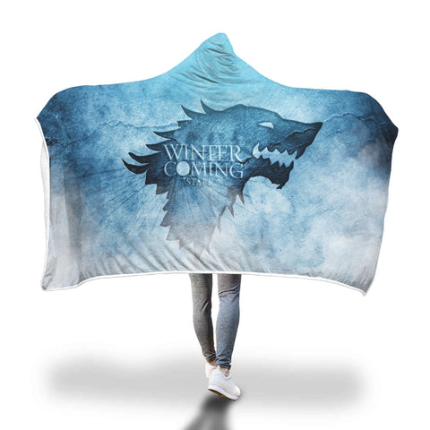 Winter is coming Full Printed Sleep-Wish Hooded Blanket
