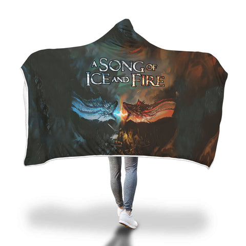 A Song Of Ice And Fire Full Printed Sleep-Wish Hooded Blanket