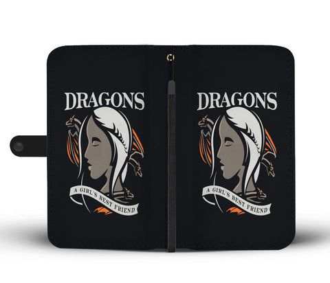 Hand Crafted DRAGONS - A Girl's Best Friend Wallet Case