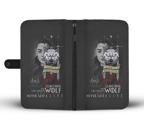 Hand Crafted Leave One Wolf Alive Wallet Case