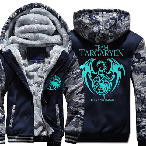 Team Targaryen  Winter Warm Glow Fleece Thicken Jacket