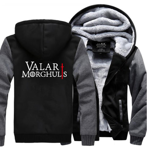 Valar Morghulis Thicken Hoodie - Warm Fleece Sweatshirts