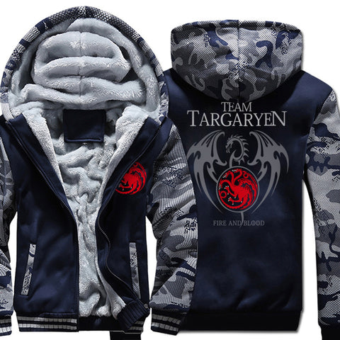 Team Targaryen  Winter Warm Fleece Thicken Jacket