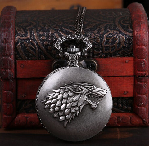 House Stark Wolf Royal Pocket Watch