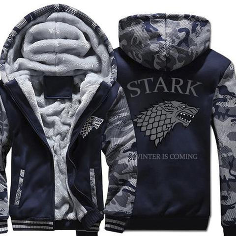House Stark  winter warm fleece thicken jacket