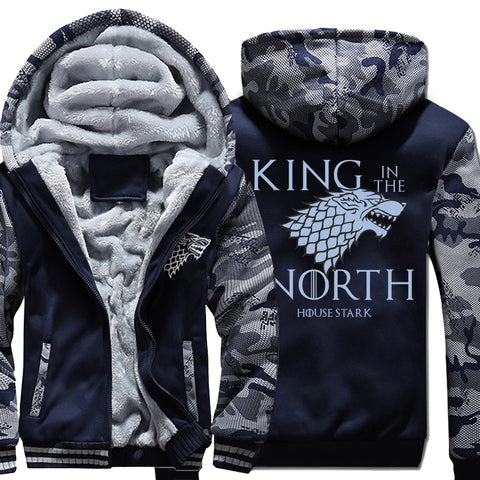 King In The North winter warm fleece thicken jacket