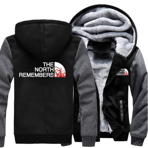 The North Remembers Winter Warm Fleece Thicken Jacket