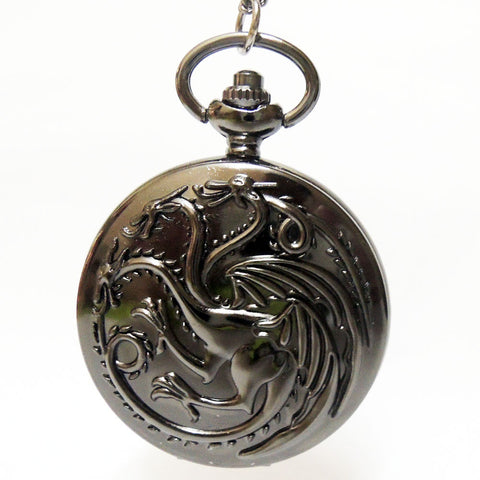 House Targaryen A Song of Ice and Fire Pocket Watch Necklace Mens Womens
