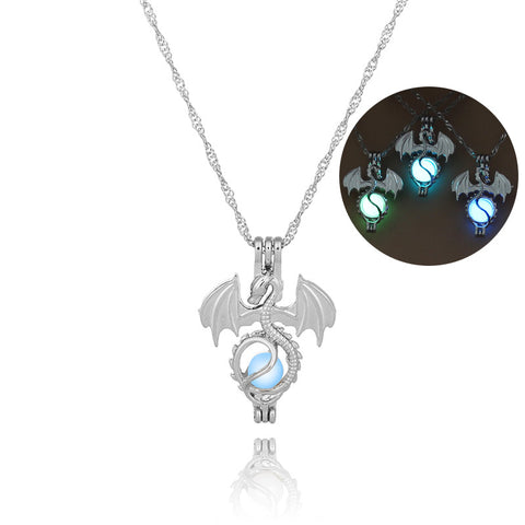 Luminous Skull Dragon Necklace For Girls And Woman