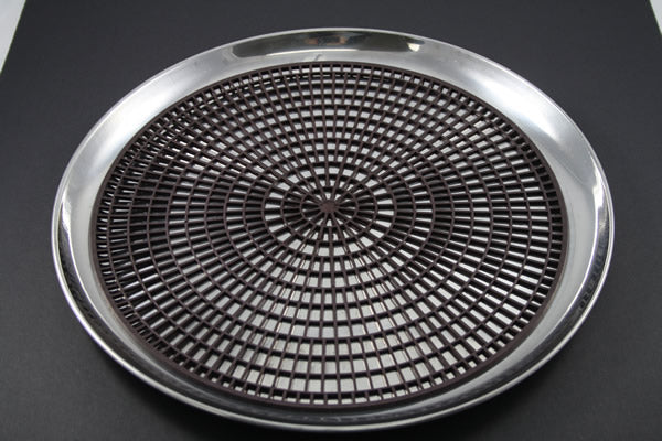 "14"" Stainless Waiter Tray with Mat (rental price)"