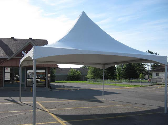 20' x 20' without sides (rental price)