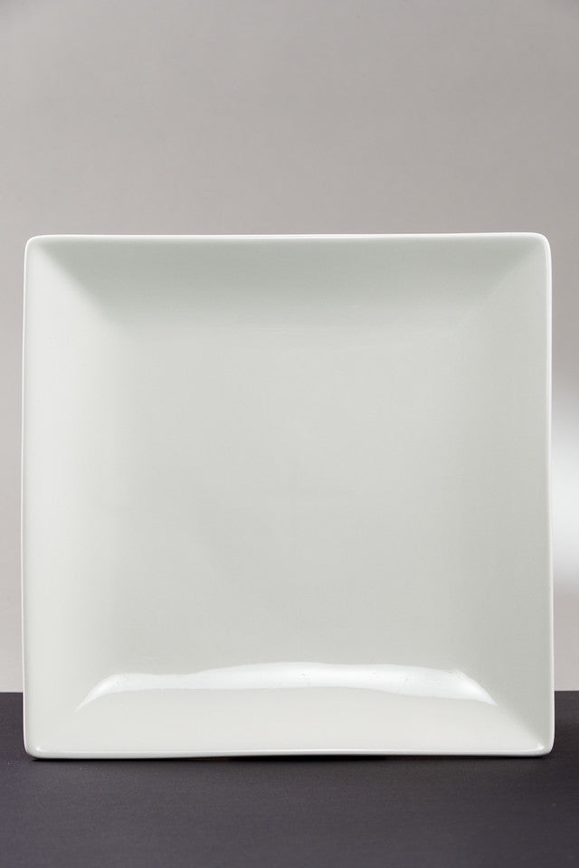 "12"" Square Serving Plate (rental price)"