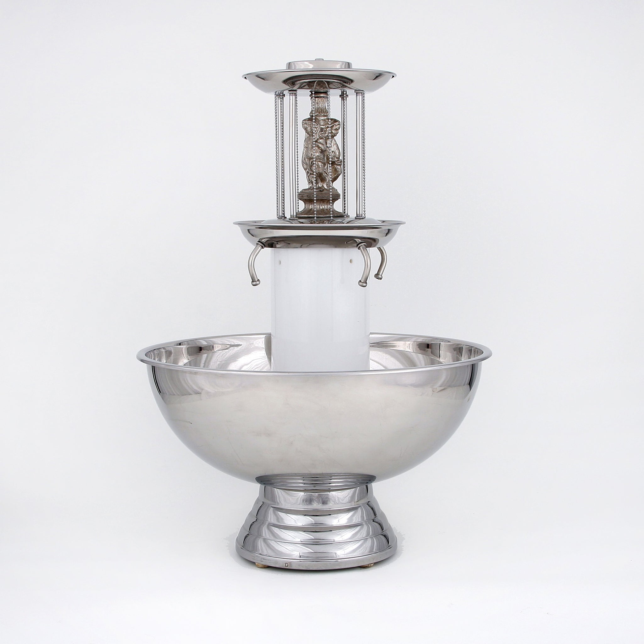 23 Litre Silver Fountain with Cherubs (rental price)