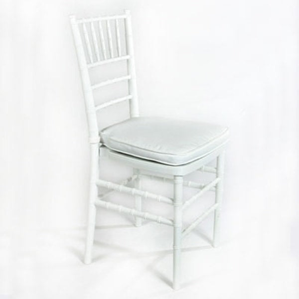"White ""Chiavari"" Chair with Cushion (rental price)"