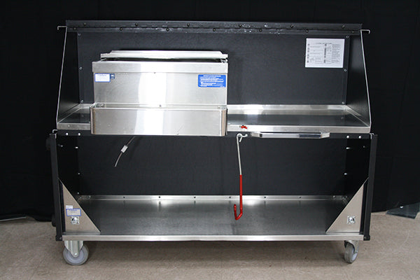 Portable Black 6' Bar with Sink (rental price)