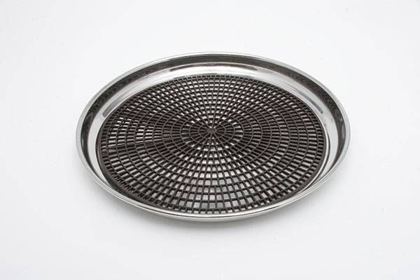 "14"" Stainless Waiter Tray with Rubber Mat (rental price)"