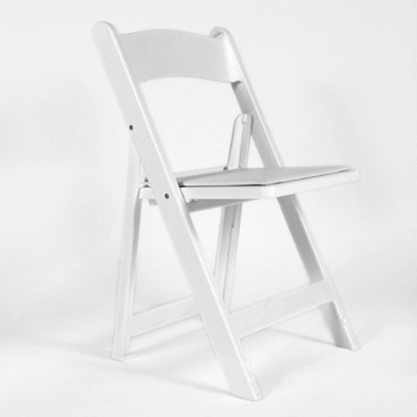 "White ""Martha"" Padded Chair (rental price)"