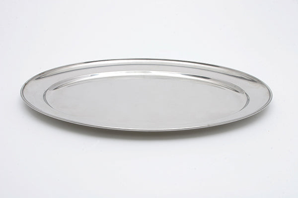 "22"" Stainless Oval Tray (rental price)"