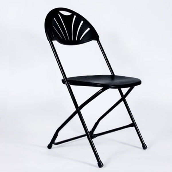 Black Fan Backed Folding Chair (rental price)