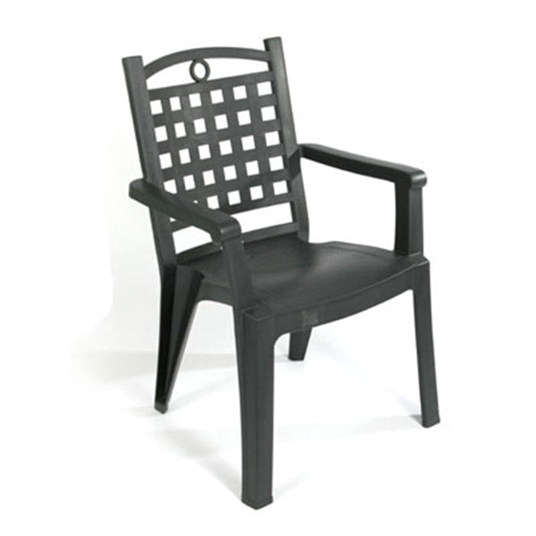 Green Resin Chair with Armrests (rental price)