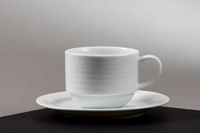 "Cup & Saucer ""Arctic White"" (rental price)"