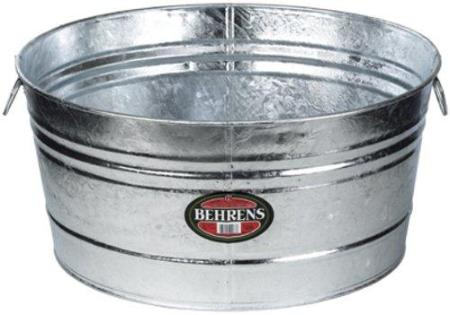 Galvanized Steel Tub 132L (rental price)
